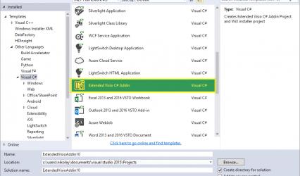 Visual Studio Addin project templates
