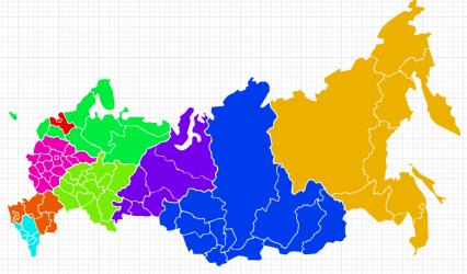Visio Map of Russia regions